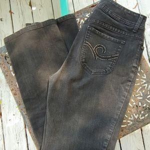 Chico's black bootcut denim jeans